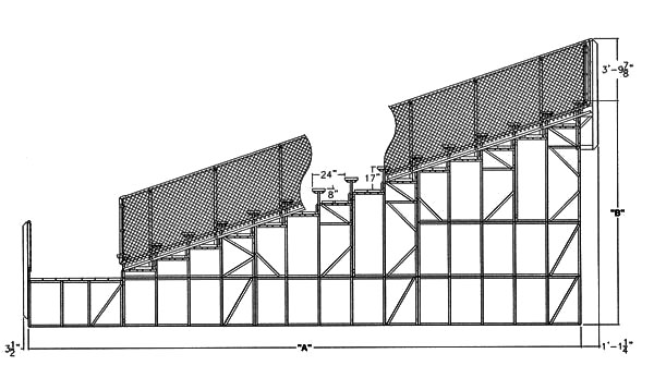 Angle Frame Bleachers Installation Specs National