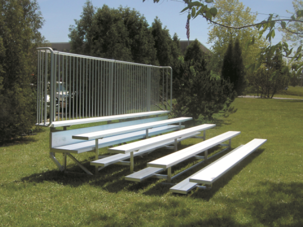 aluminum bleachers for small groups