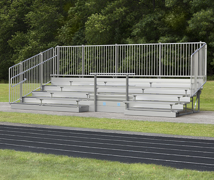 accessible bleachers with ADA seating