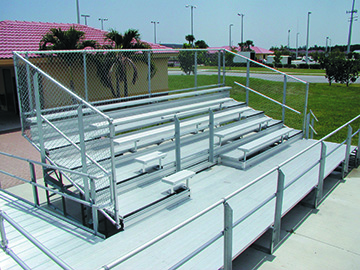 ada accessible bleacher construction