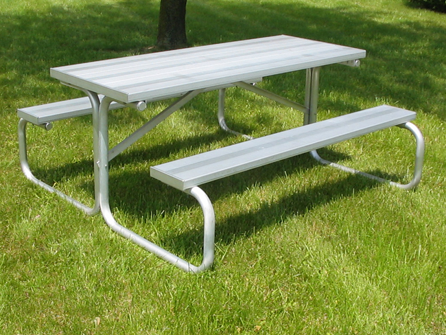 Aluminum Picnic Tables Metal Picnic Tables National Recreation - 8 foot picnic table for sale