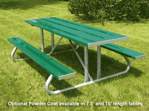Power Coated Aluminum Picnic Table