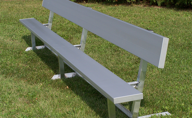 portable aluminum bench