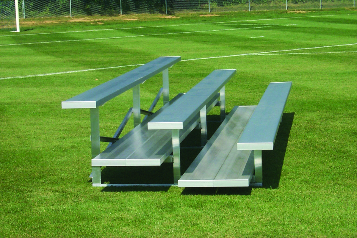 3 Row Aluminum Bleachers - Preferred Series - National Recreation Systems