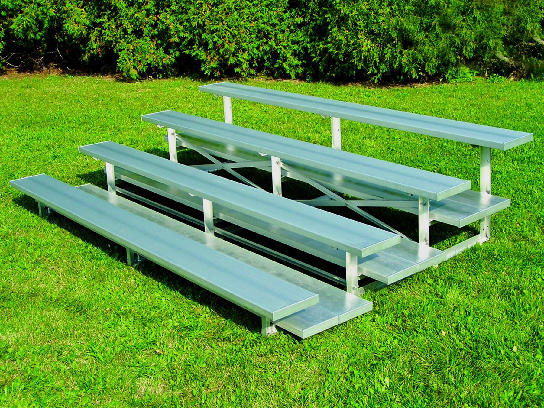 bleachers with wide foot planks