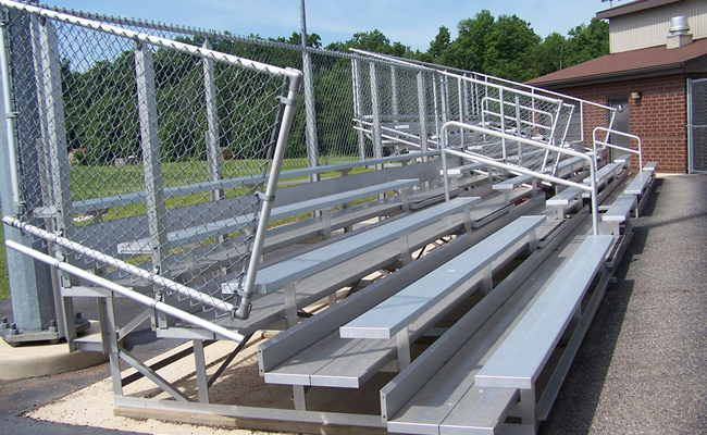 5 Row Aluminum Bleachers - Deluxe Series - National Recreation Systems