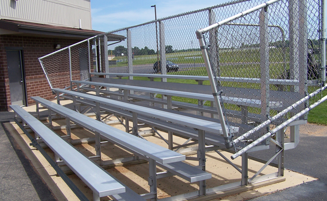 5 Row Aluminum Bleachers - Standard Series - National Recreation Systems