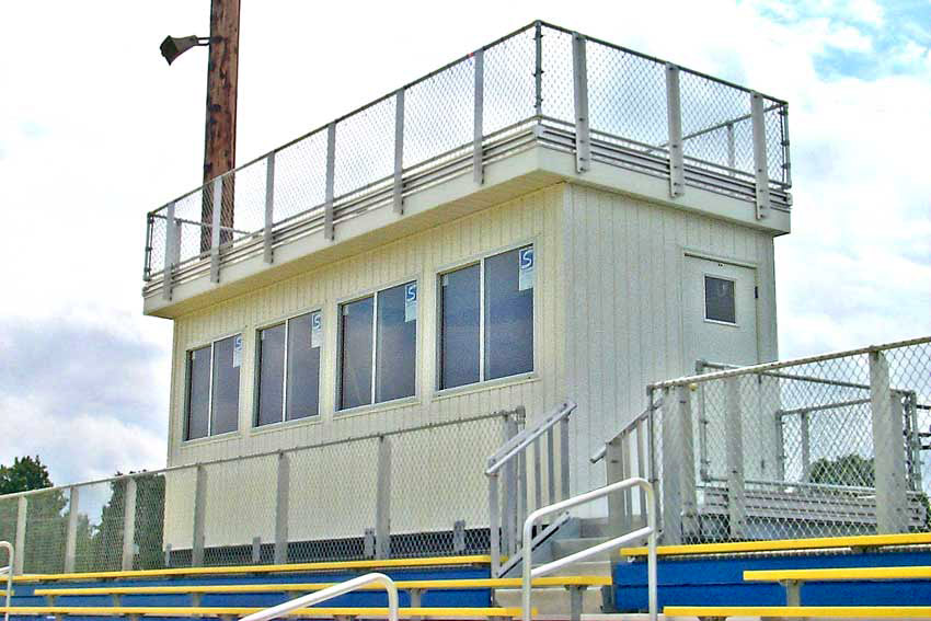Customized Press Boxes For Stadiums National Recreation