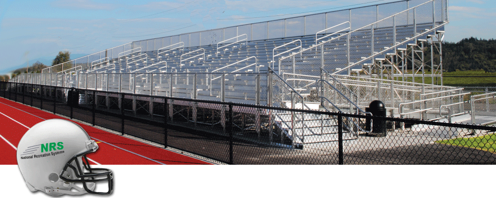 Elevated Bleachers by National Recreation Systems