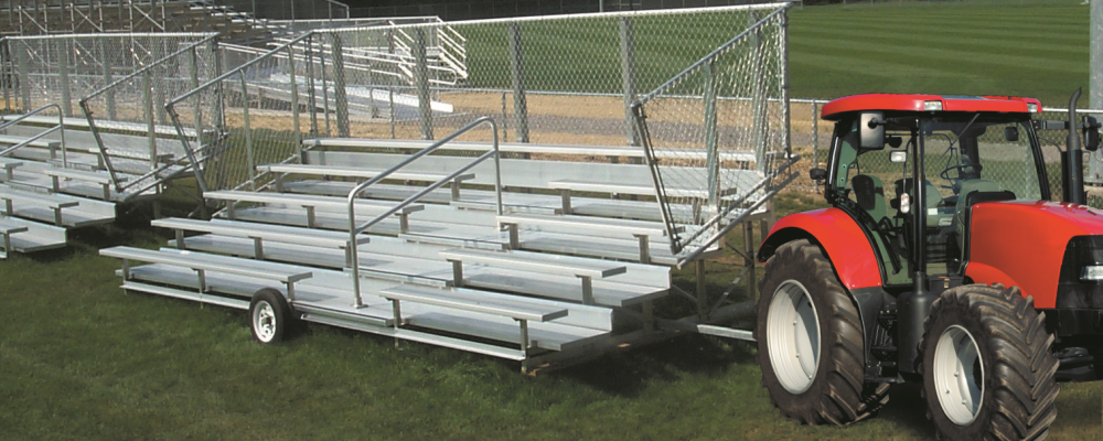 transportable aluminum bleachers