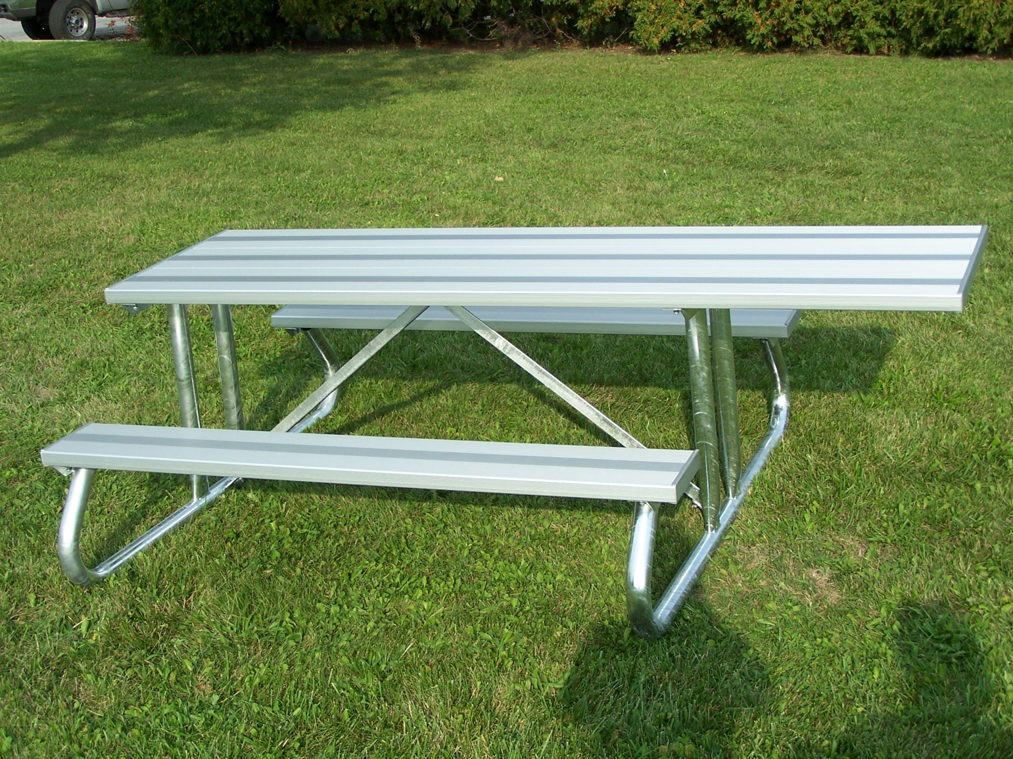Aluminum Picnic Tables Metal Picnic Tables National Recreation - 6 sided picnic table